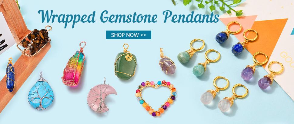 Wrapped Gemstone Pendants Shop Now