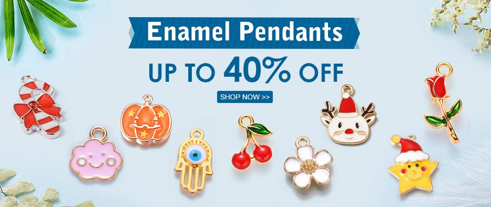 Enamel Pendants Up to 40% OFF